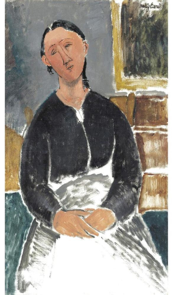 Amedeo Modigliani, Hizmet Veren Kadın Diğer Adı: La Fantesca, Kanvas Tablo, Amedeo Modigliani