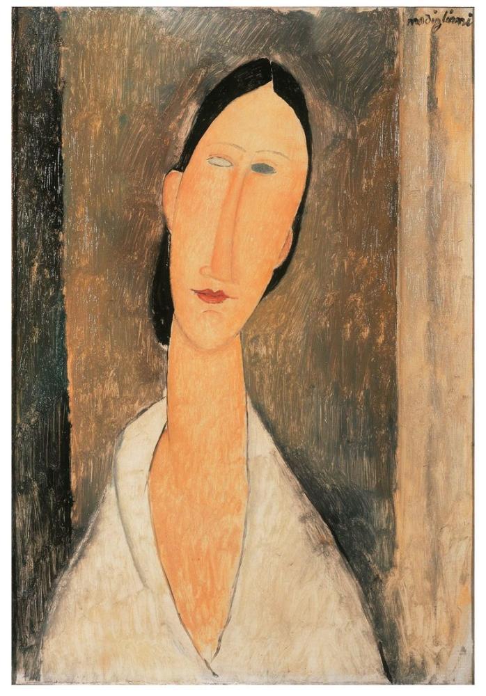 Amedeo Modigliani, Hanka Zborowska, Kanvas Tablo, Amedeo Modigliani