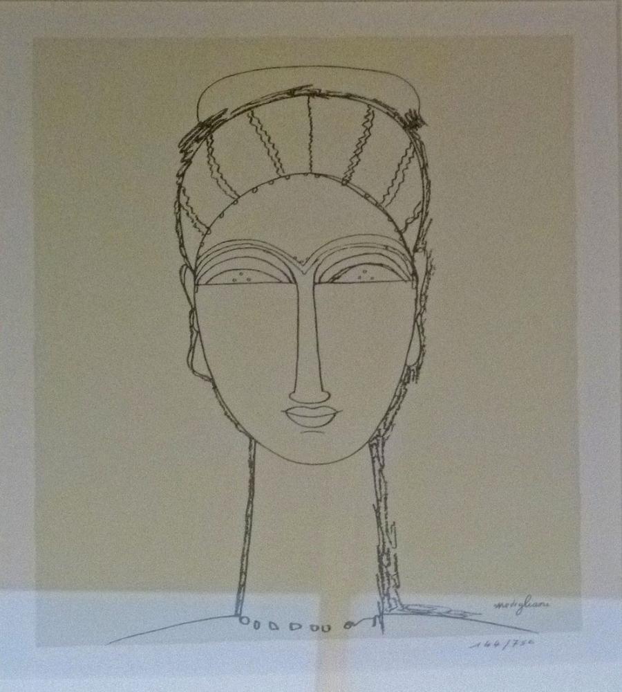 Amedeo Modigliani, Tête, Kanvas Tablo, Amedeo Modigliani