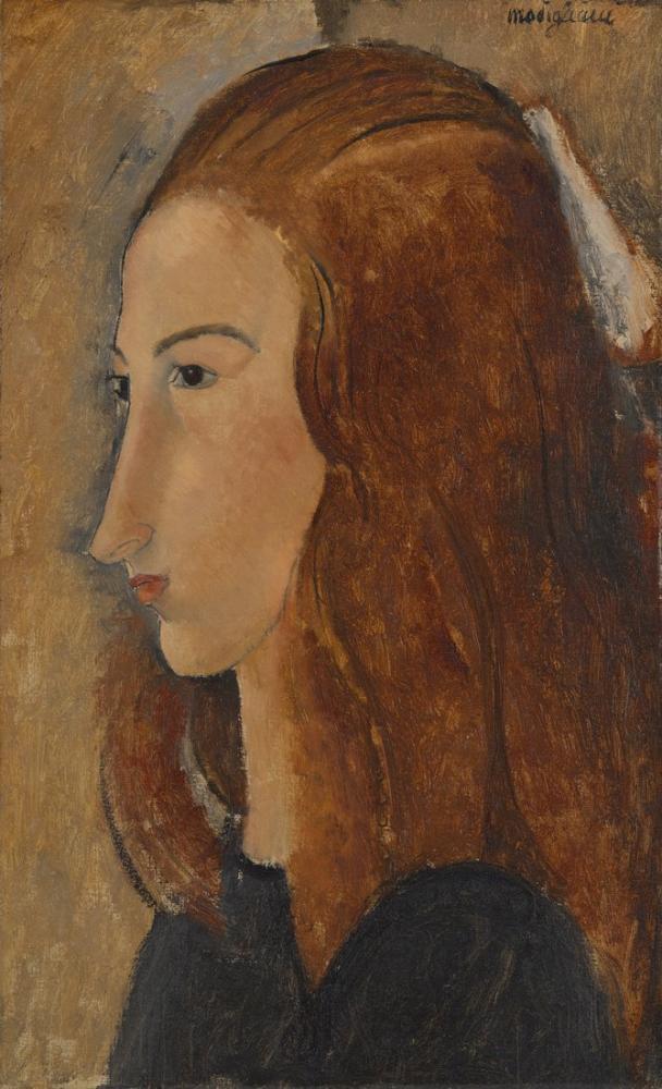 Amedeo Modigliani, Genç Bir Kadın Portresi, Kanvas Tablo, Amedeo Modigliani
