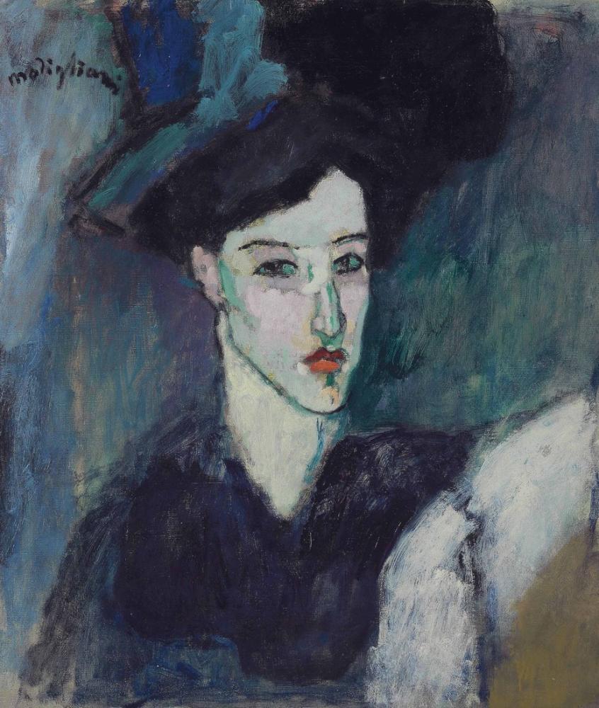 Amedeo Modigliani, La Juive, Kanvas Tablo, Amedeo Modigliani