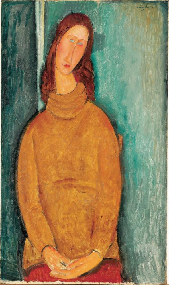 Amedeo Modigliani, Jeanne Hébuterne Portresi, Kanvas Tablo, Amedeo Modigliani