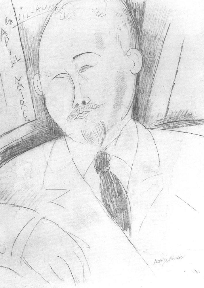 Amedeo Modigliani, Guillaume Apollinaire, Kanvas Tablo, Amedeo Modigliani