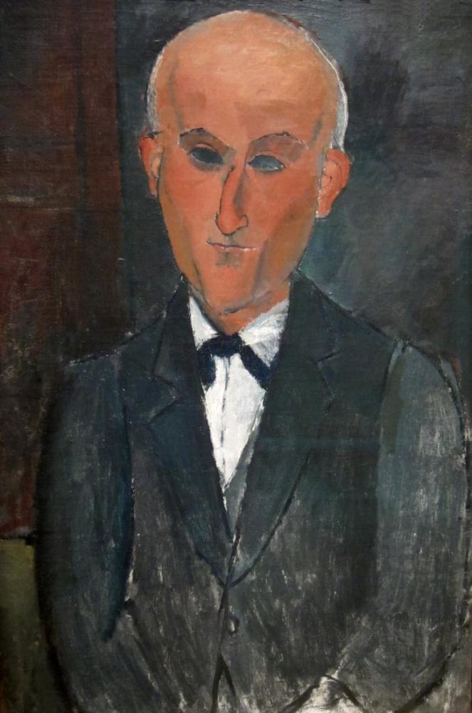 Amedeo Modigliani, Ritratto di Max Jacob, Kanvas Tablo, Amedeo Modigliani