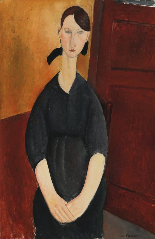 Amedeo Modigliani, Paulette Jourdain, Kanvas Tablo, Amedeo Modigliani