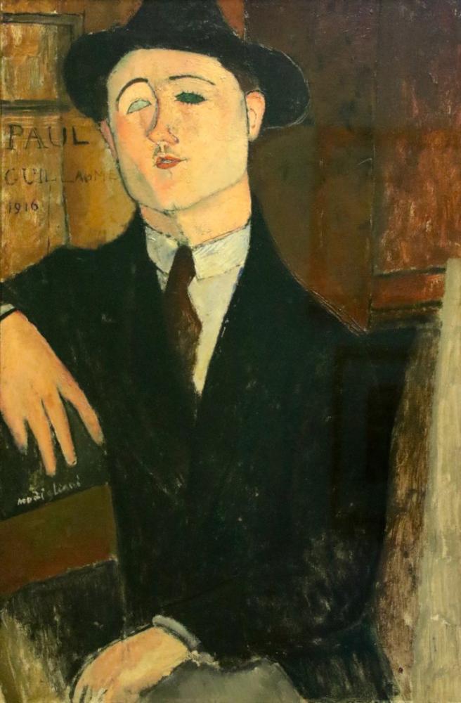 Amedeo Modigliani, Livorno Paris Paul Guillaume Portresi, Kanvas Tablo, Amedeo Modigliani