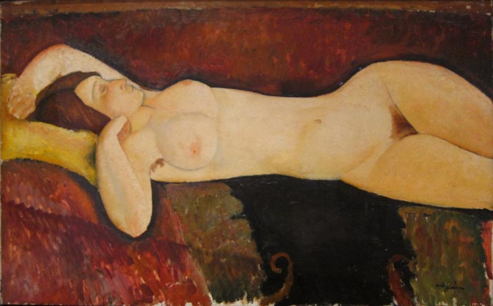 Amedeo Modigliani, Büyük Çıplak, Kanvas Tablo, Amedeo Modigliani