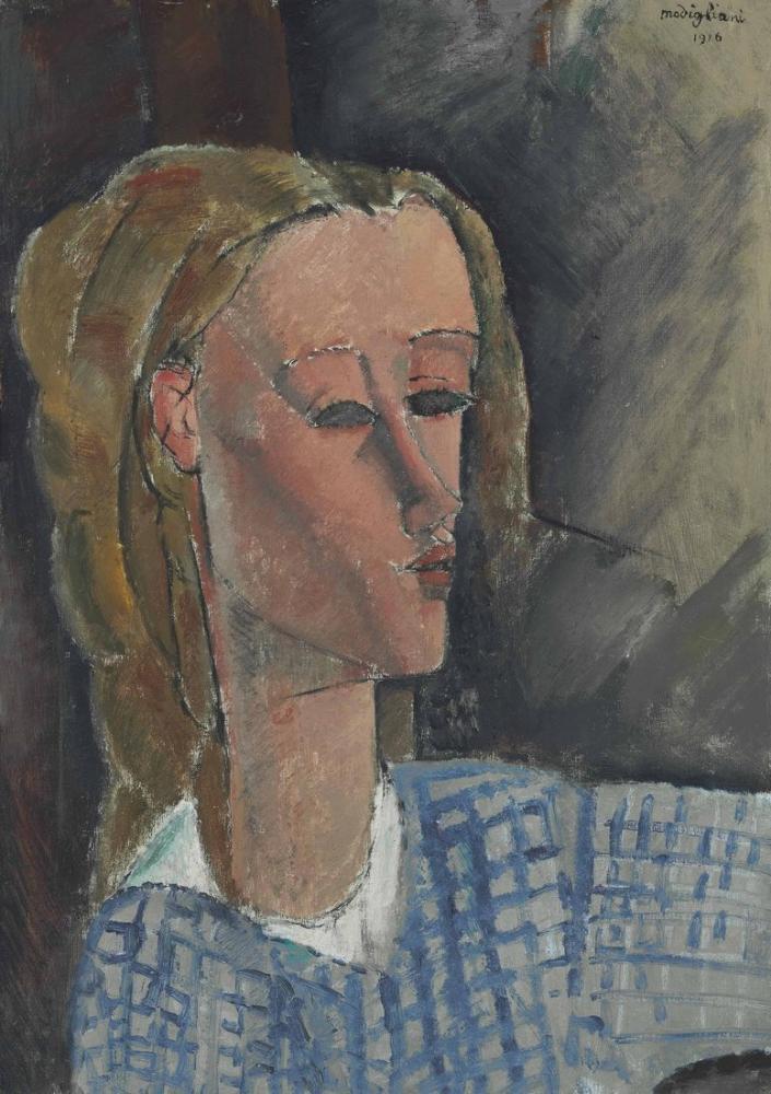 Amedeo Modigliani, Beatrice Hastings, Kanvas Tablo, Amedeo Modigliani