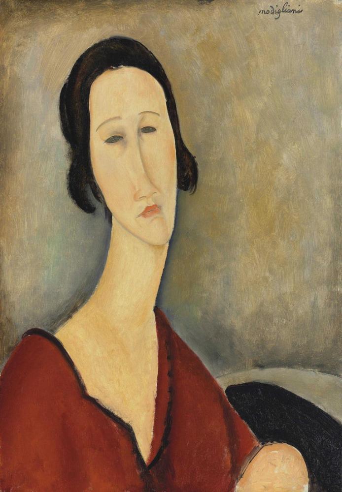 Amedeo Modigliani, Madame Hanka Zborowska, Kanvas Tablo, Amedeo Modigliani