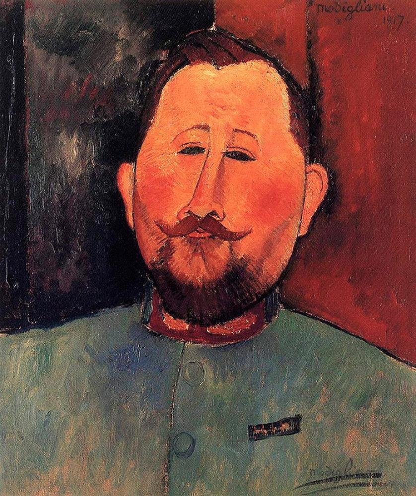 Amedeo Modigliani, Doktor Devaraigne Portresi, Kanvas Tablo, Amedeo Modigliani