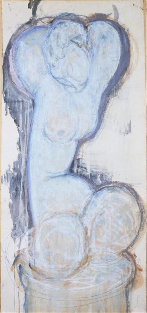 Amedeo Modigliani, Caryatid III, Kanvas Tablo, Amedeo Modigliani