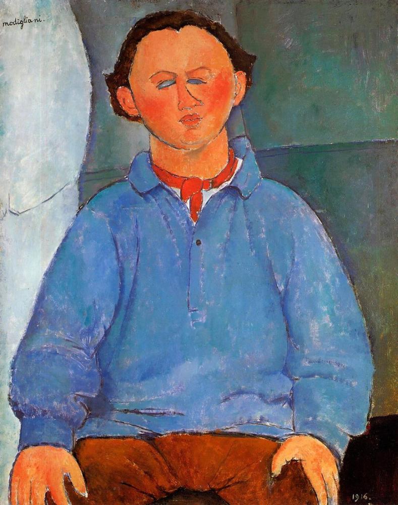 Amedeo Modigliani, Oscar Miestchanioff Portresi, Kanvas Tablo, Amedeo Modigliani