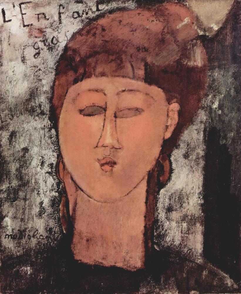 Amedeo Modigliani, Şişman Çocuk, Kanvas Tablo, Amedeo Modigliani