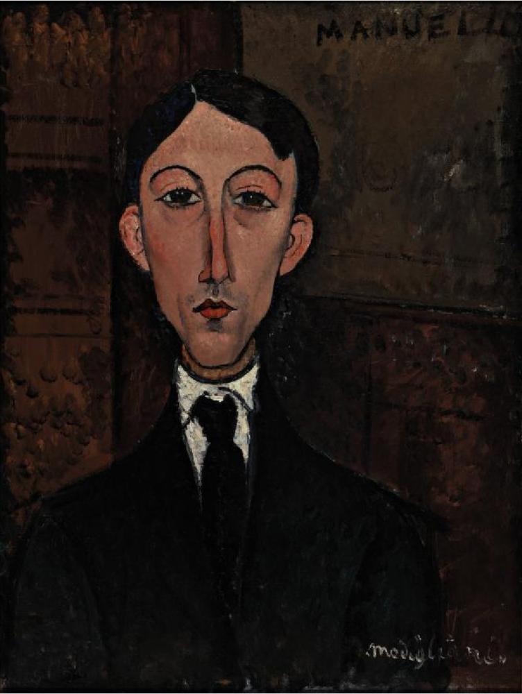 Amedeo Modigliani, Manuel Humbert Büstü, Kanvas Tablo, Amedeo Modigliani