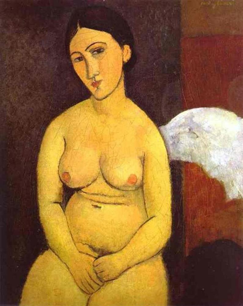 Amedeo Modigliani, Çıplak, Kanvas Tablo, Amedeo Modigliani, kanvas tablo, canvas print sales