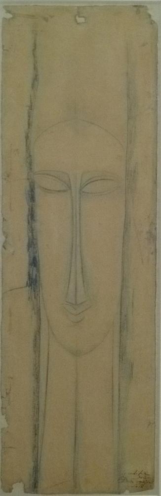 Amedeo Modigliani, Eskiz, Kanvas Tablo, Amedeo Modigliani