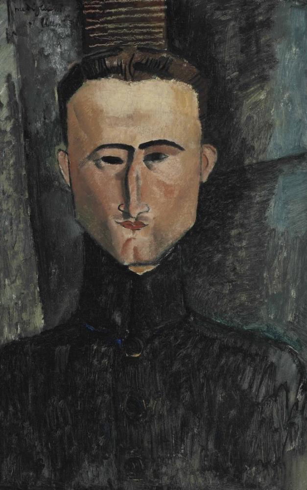 Amedeo Modigliani, Ressam Rouveyre Portresi, Kanvas Tablo, Amedeo Modigliani