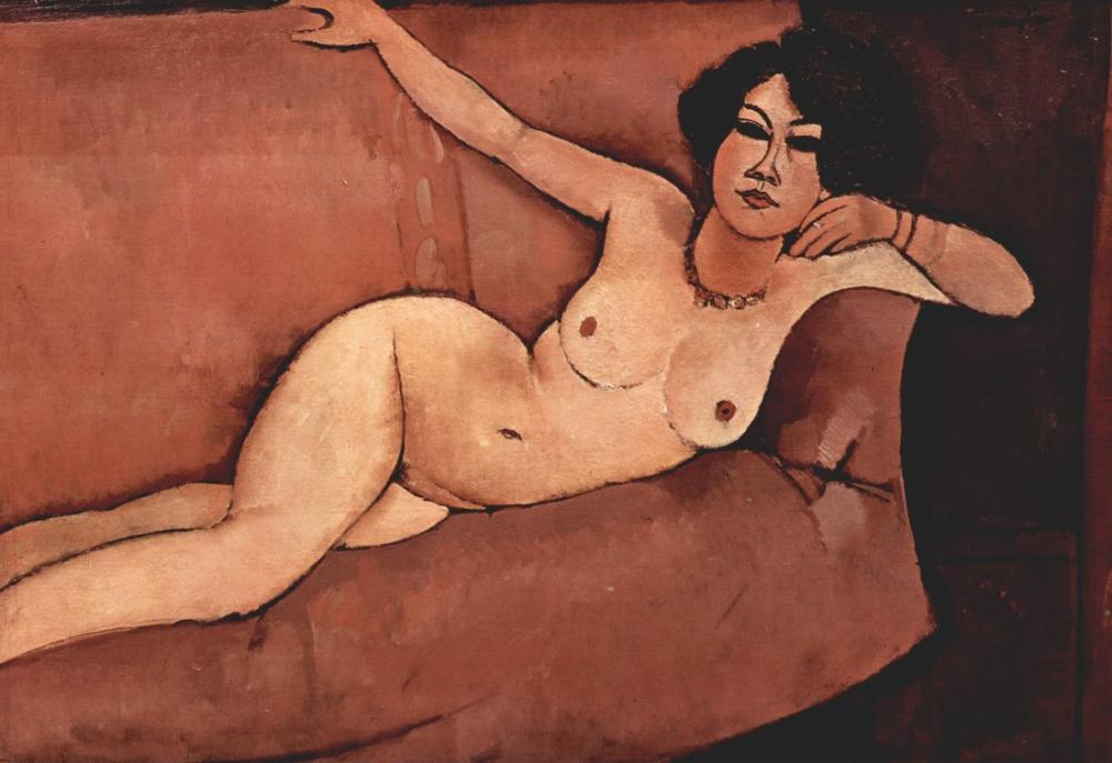 Amedeo Modigliani, Nude on Sofa, Almaisa, Canvas, Amedeo Modigliani