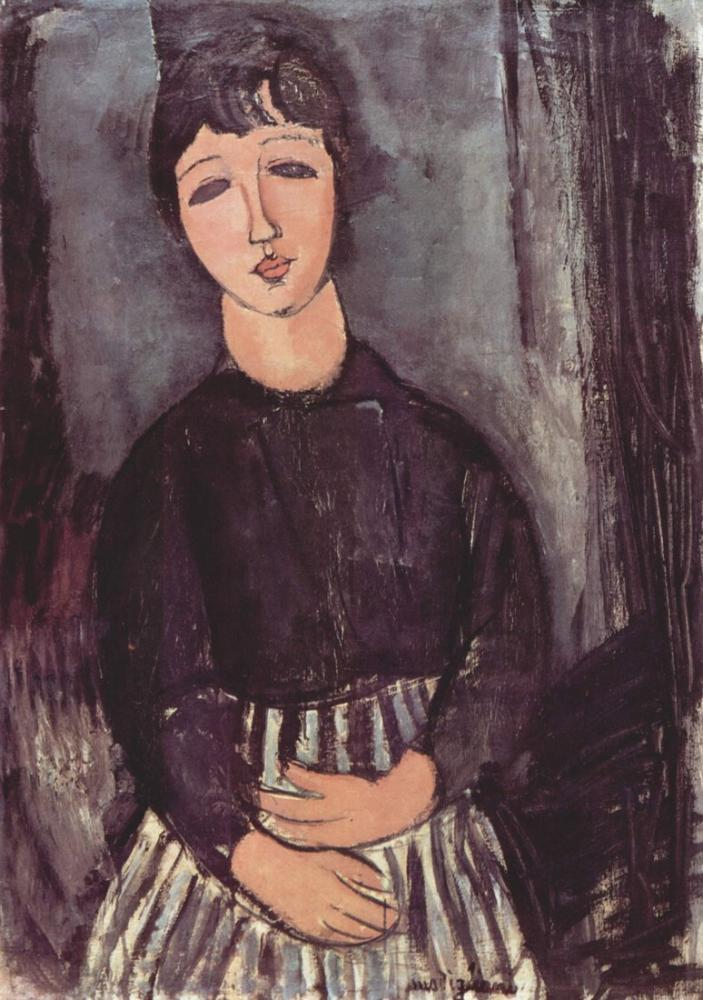 Amedeo Modigliani, Hizmetçi, Kanvas Tablo, Amedeo Modigliani