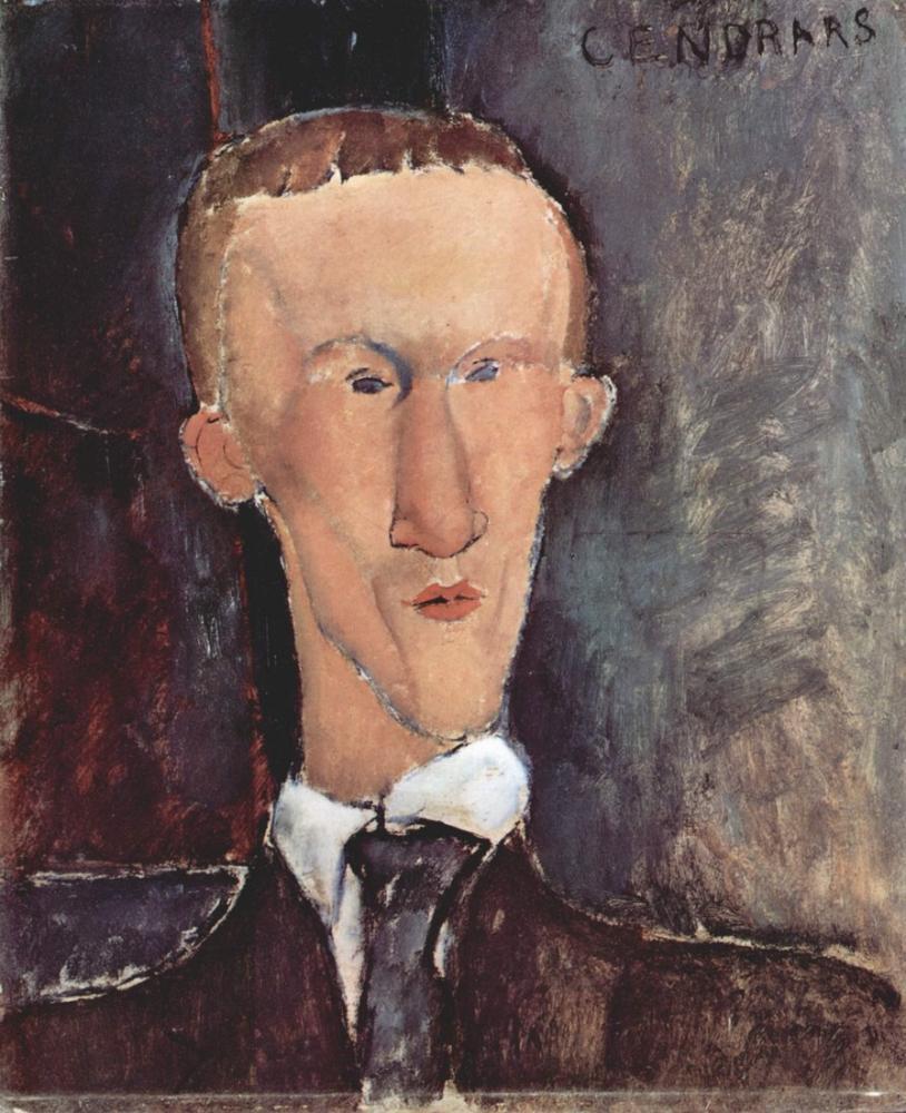 Amedeo Modigliani, Blaise Cendrars Portresi, Kanvas Tablo, Amedeo Modigliani