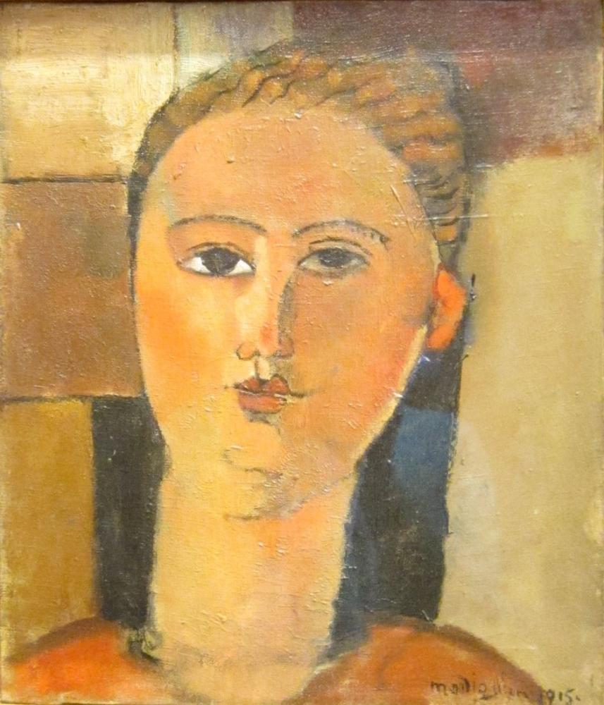 Amedeo Modigliani, Kızıl Saçlı Kız, Kanvas Tablo, Amedeo Modigliani