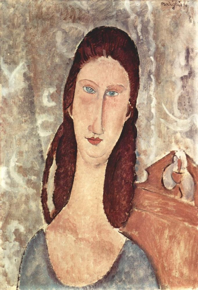 Amedeo Modigliani, Jeanne Hébuterne II Portresi, Kanvas Tablo, Amedeo Modigliani