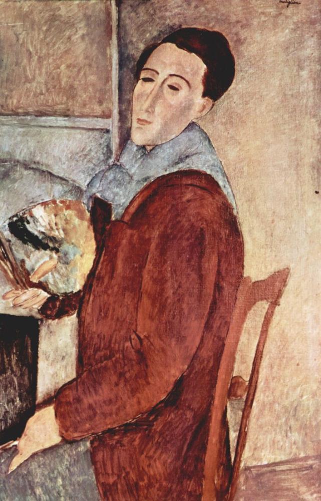 Amedeo Modigliani, Otoportre, Kanvas Tablo, Amedeo Modigliani