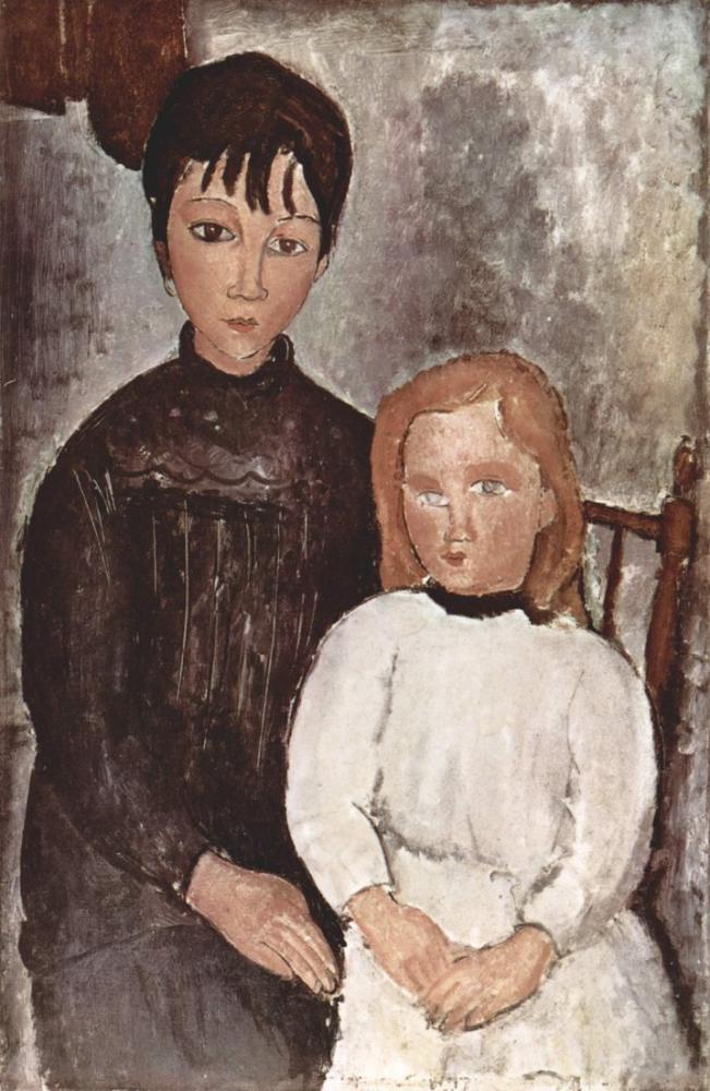 Amedeo Modigliani, Çocuklar, Kanvas Tablo, Amedeo Modigliani
