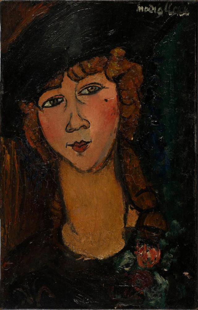 Amedeo Modigliani, Lolotte, Kanvas Tablo, Amedeo Modigliani