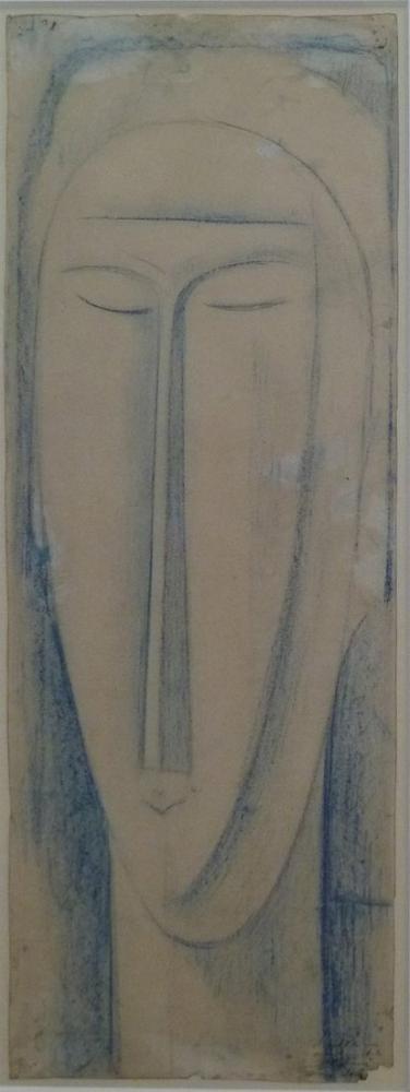 Amedeo Modigliani, Baş, Kanvas Tablo, Amedeo Modigliani