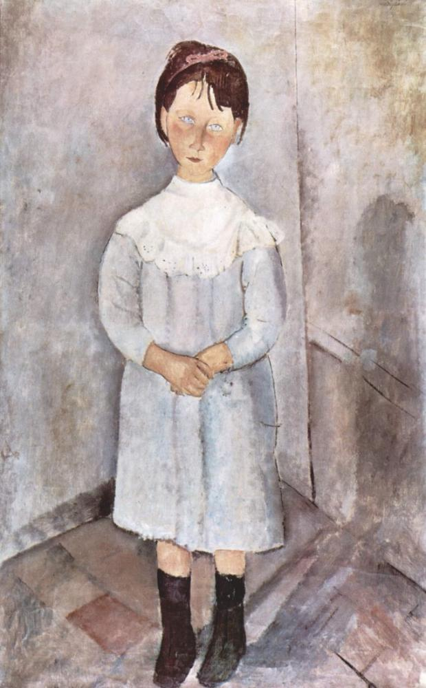 Amedeo Modigliani, Mavi Küçük Kız, Kanvas Tablo, Amedeo Modigliani