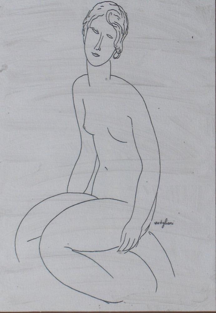 Amedeo Modigliani, Eskiz, Kanvas Tablo, Amedeo Modigliani, kanvas tablo, canvas print sales