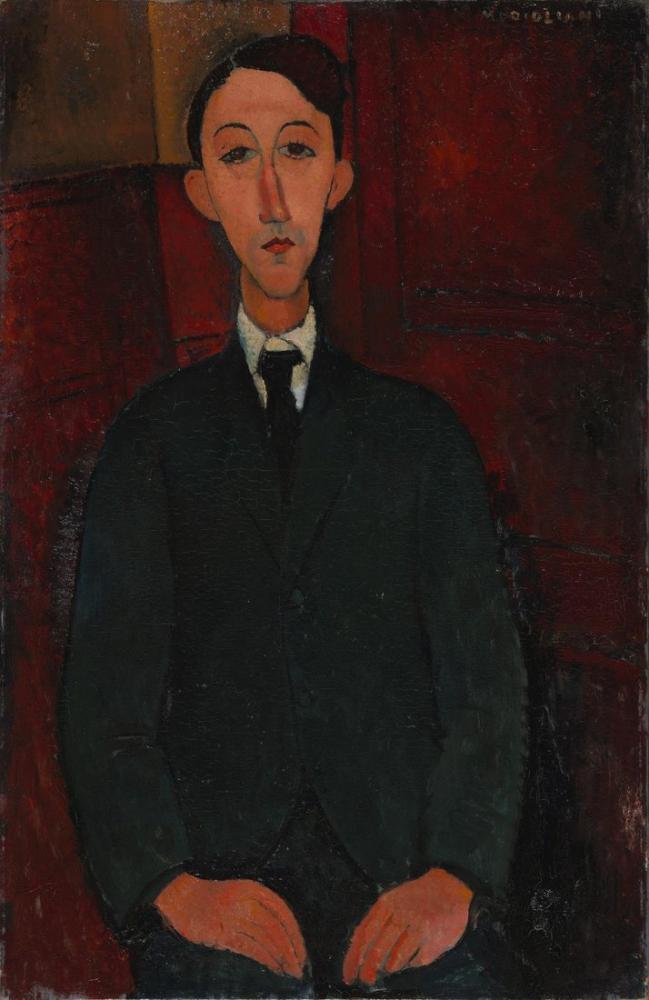 Amedeo Modigliani, Ressam Manuel Humbert'in Portresi, Kanvas Tablo, Amedeo Modigliani