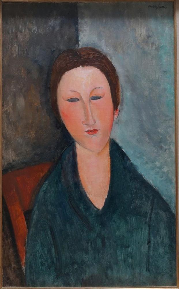 Amedeo Modigliani, Genç Bir Kızın Büstü Matmazel Marthe, Kanvas Tablo, Amedeo Modigliani