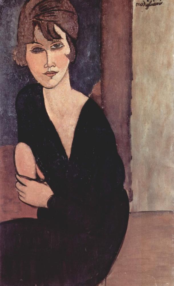 Amedeo Modigliani, Madam Reynouard'ın Portresi, Kanvas Tablo, Amedeo Modigliani