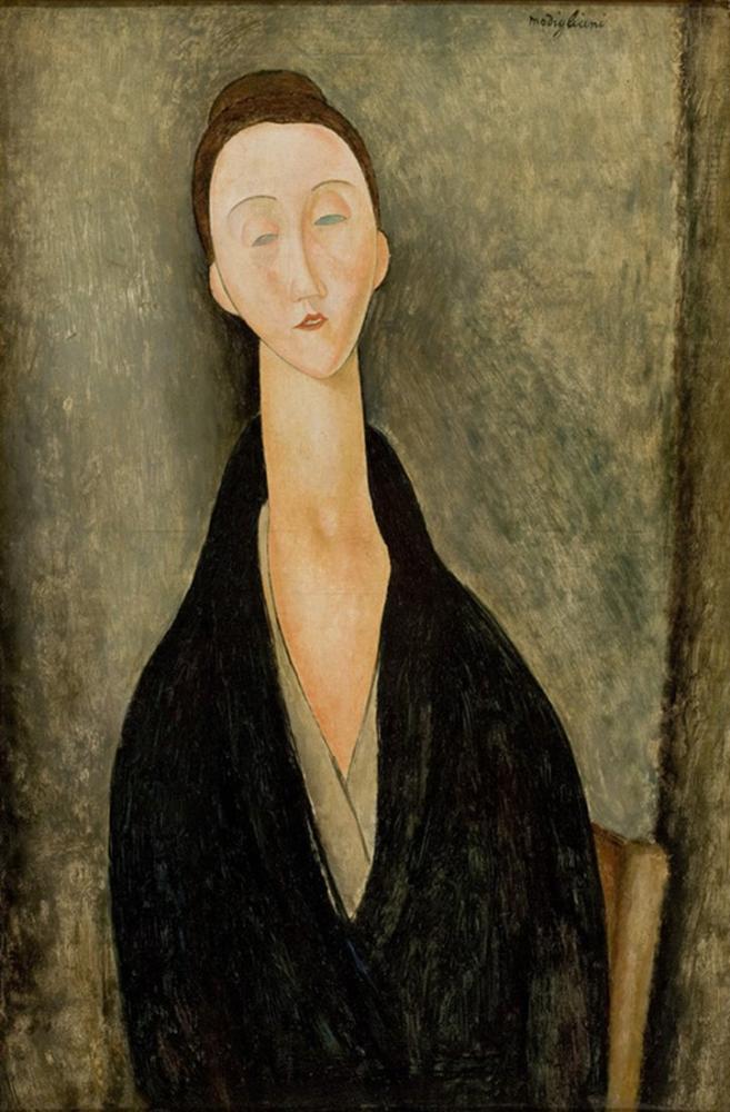 Amedeo Modigliani, Madame Hanka Zborowska Portresi, Kanvas Tablo, Amedeo Modigliani