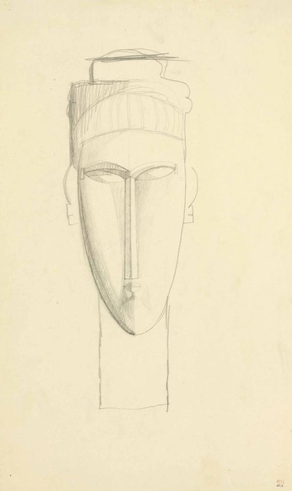 Amedeo Modigliani, Cariatide Başı, Kanvas Tablo, Amedeo Modigliani