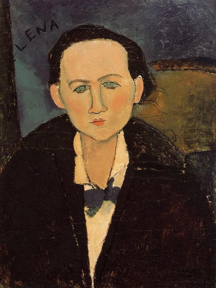 Amedeo Modigliani, Elena Pavlowski Portresi, Kanvas Tablo, Amedeo Modigliani, kanvas tablo, canvas print sales