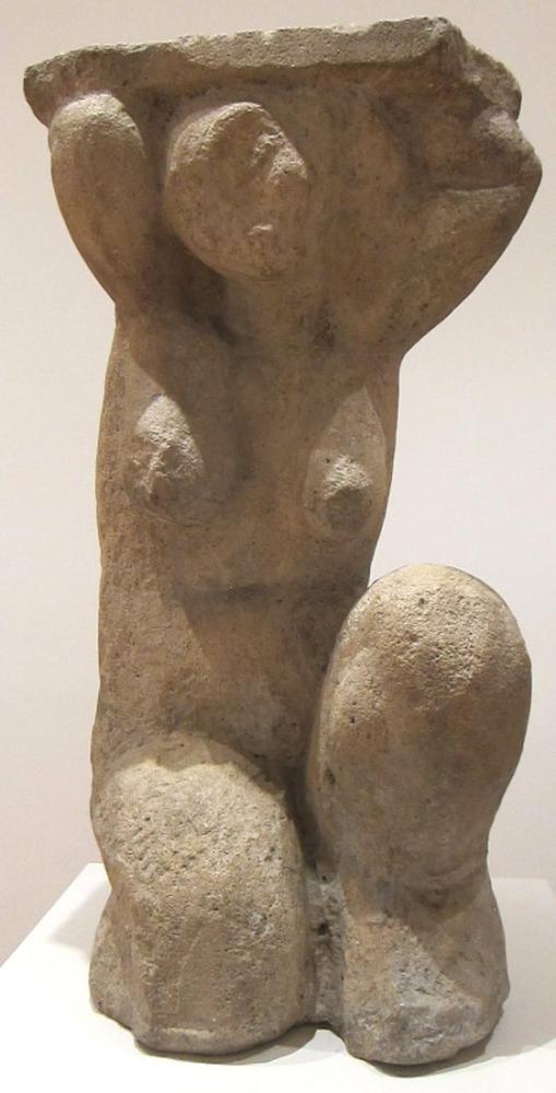 Amedeo Modigliani, Caryatid IV, Figür, Amedeo Modigliani