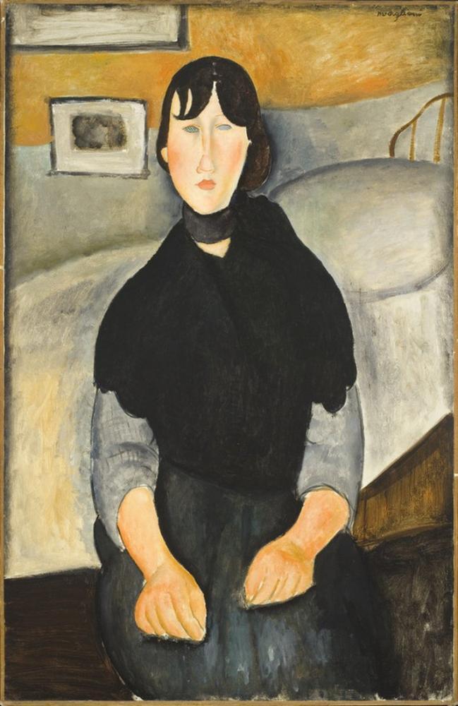 Amedeo Modigliani, Halkın Genç Kadını, Kanvas Tablo, Amedeo Modigliani