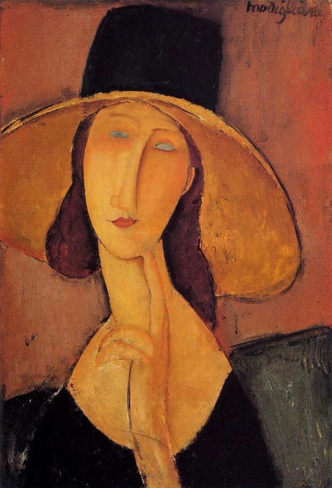 Amedeo Modigliani, Jeanne Hebuterne Portresi, Kanvas Tablo, Amedeo Modigliani