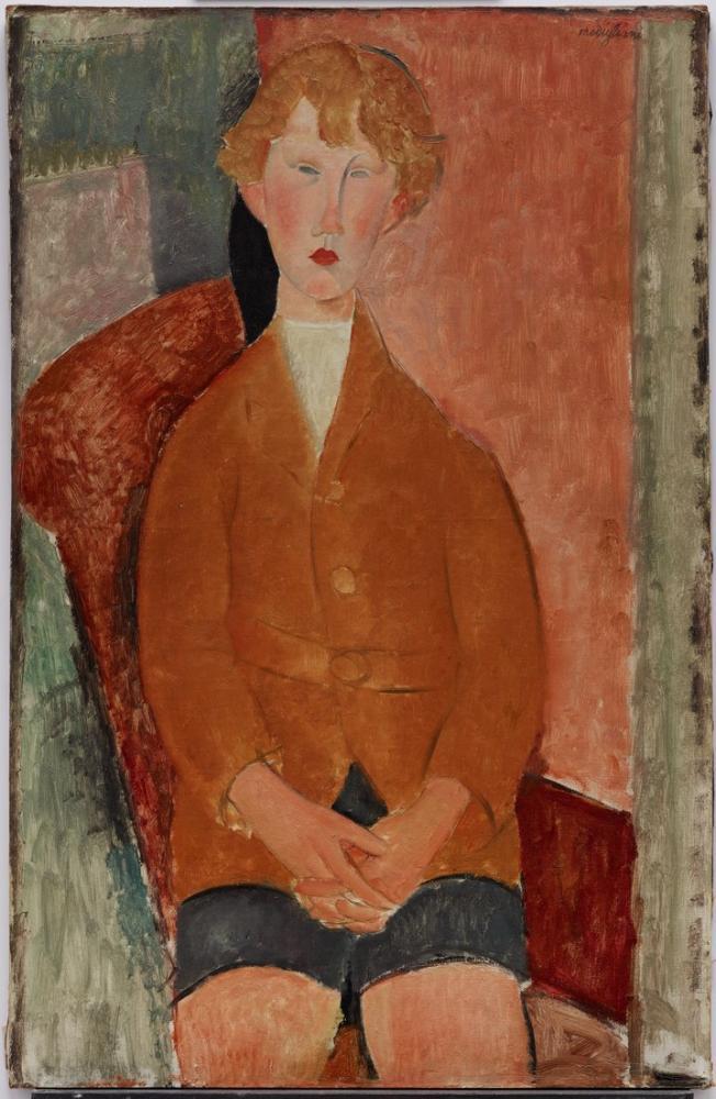 Amedeo Modigliani, Kısa Pantolonlu Çocuk, Kanvas Tablo, Amedeo Modigliani