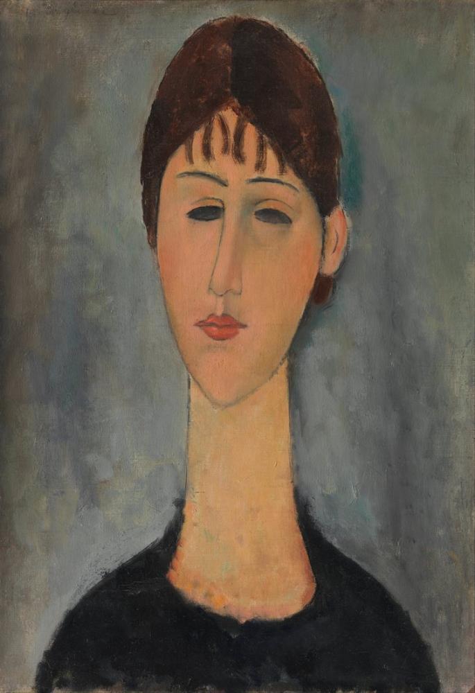 Amedeo Modigliani, Mme Zborowska Portresi, Kanvas Tablo, Amedeo Modigliani