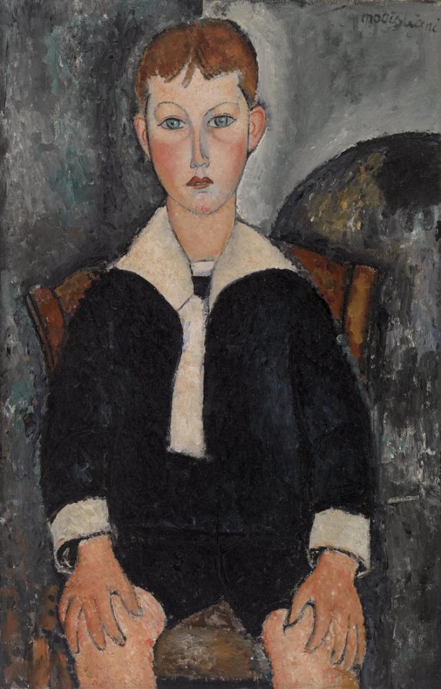 Amedeo Modigliani, Denizci Elbiseli Çocuk, Kanvas Tablo, Amedeo Modigliani, kanvas tablo, canvas print sales