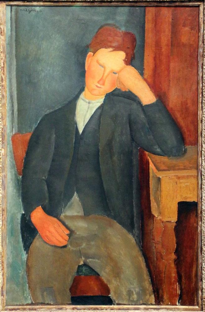 Amedeo Modigliani, Genç Çırak, Kanvas Tablo, Amedeo Modigliani