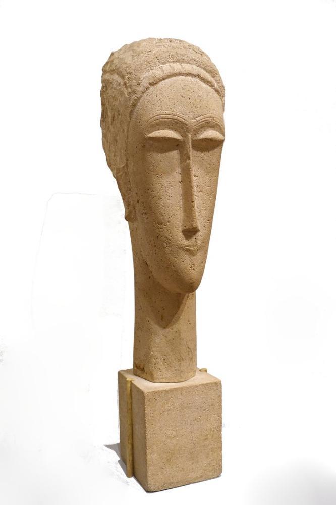 Amedeo Modigliani, Anadolu Kadın Başı, Kanvas Tablo, Amedeo Modigliani