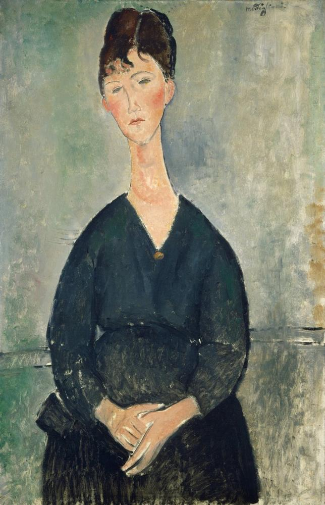 Amedeo Modigliani, Kafe Şarkıcısı, Kanvas Tablo, Amedeo Modigliani