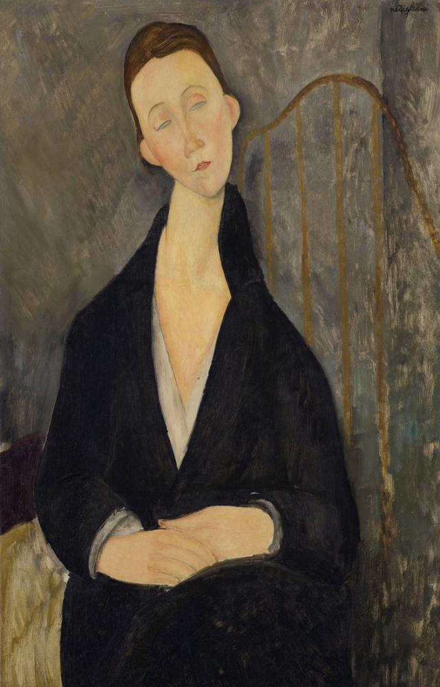 Amedeo Modigliani, A Lunia Czechowska, Kanvas Tablo, Amedeo Modigliani