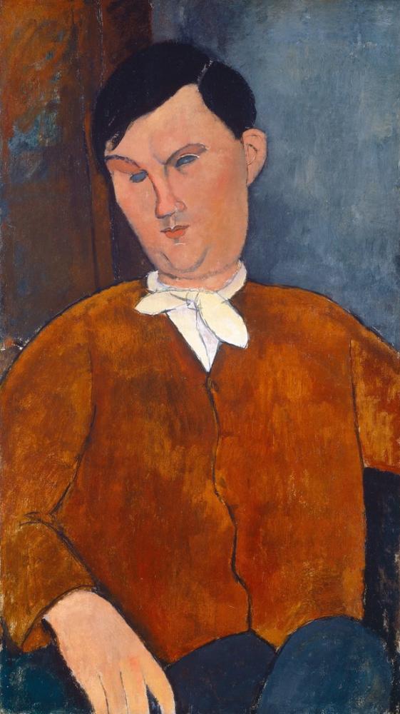 Amedeo Modigliani, Mösyö Deleu, Kanvas Tablo, Amedeo Modigliani