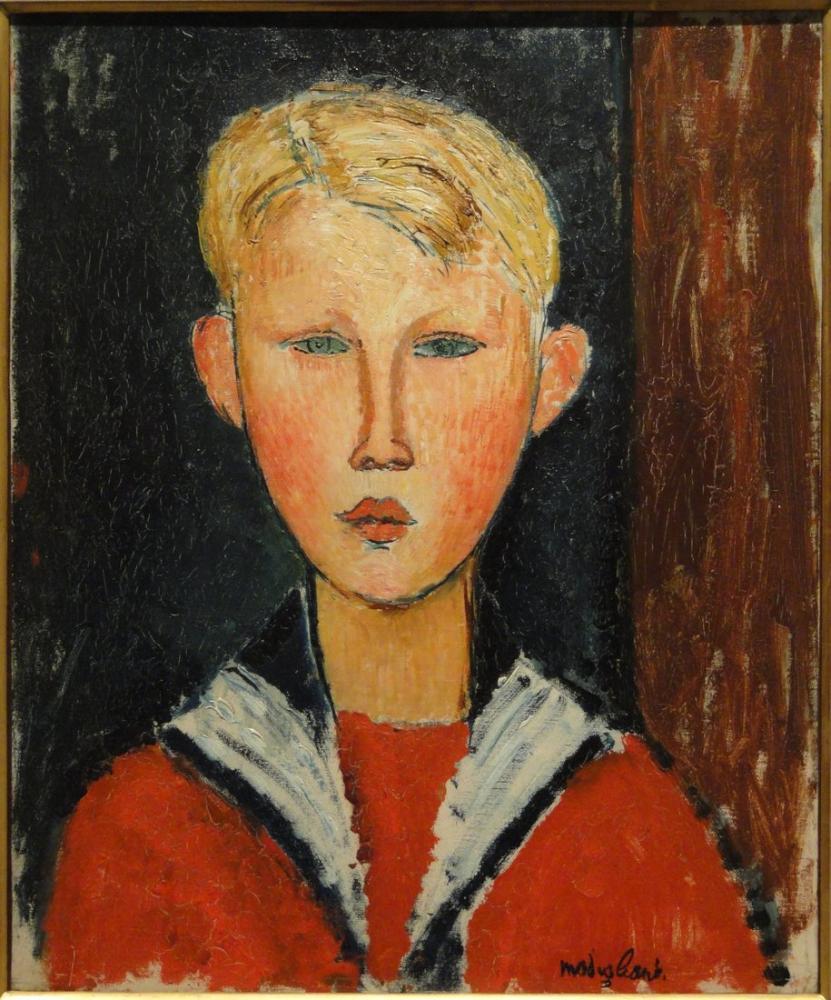 Amedeo Modigliani, Mavi Gözlü Çocuk, Kanvas Tablo, Amedeo Modigliani